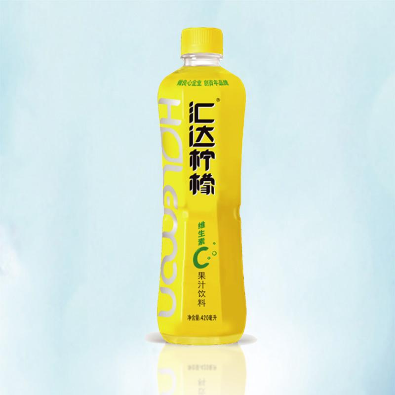 汇达柠檬饮料 1瓶420ml 柠檬果汁饮料